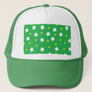Happy Stars Green Trucker Hat