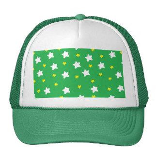 Happy Stars Green Trucker Hat