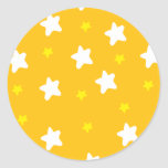 Happy Stars Orange Sticker