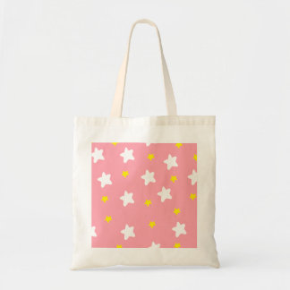 Happy Stars Pink Budget Tote Bag