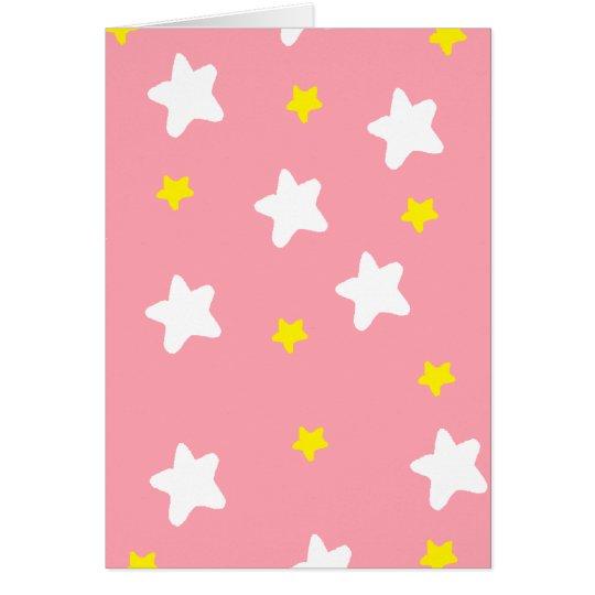 Happy Stars Pink Card
