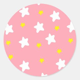 Happy Stars Pink Sticker