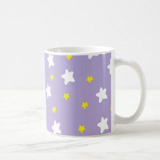 Happy Stars Purple Coffee Mug