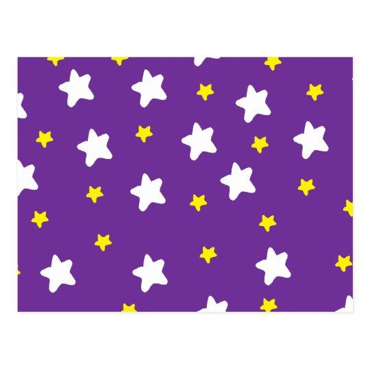 Happy Stars Purple Postcard