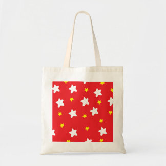 Happy Stars Red Budget Tote Bag