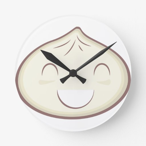 Happy Steam Bun Wall Clocks