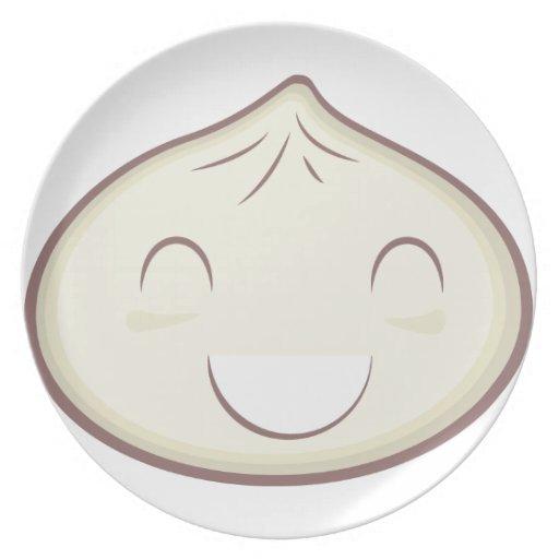 Happy Steam Bun Party Plates