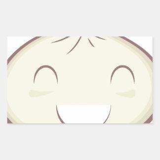 Happy Steam Bun Rectangular Sticker