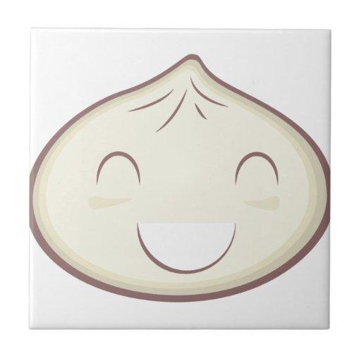 Happy Steam Bun Ceramic Tile