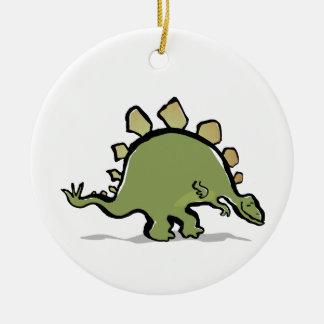 happy stegosaur christmas tree ornaments