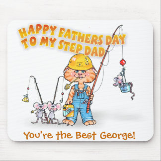 Happy Step Dad Fathers Day Mouse Pad