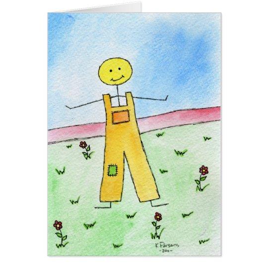 Happy Stick Man Card