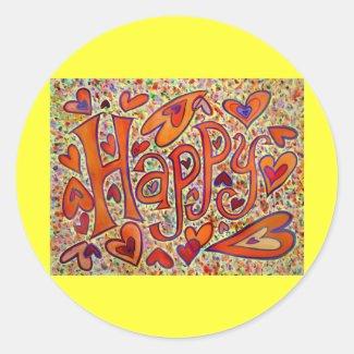 Happy Sticker