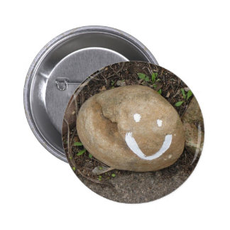 Happy stone 2 inch round button