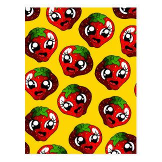 Happy Strawberry Postcard