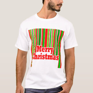 Happy Stripe MERRY CHRISTMAS T-Shirt