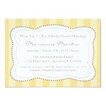 Happy Stripes Bridal Shower Invitation (Gold)
