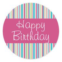 Happy Stripes Happy Birthday Seal