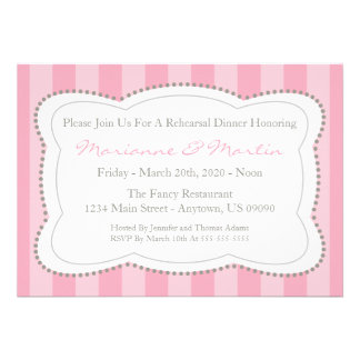 Happy Stripes Rehearsal Dinner Invite (Pink)