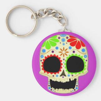 Happy Sugar Skull Art Keychains