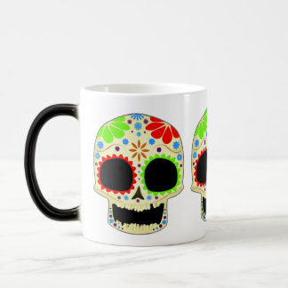 Happy Sugar Skull Art Magic Mug