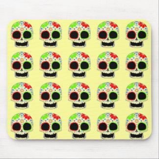 Happy Sugar Skull Art Mouse Pad