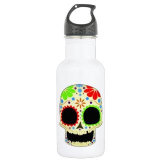 Happy Sugar Skull Art 18oz Water Bottle