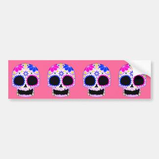 Happy Sugar Skull Design Bumper Sticker