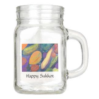 Happy Sukkot Mason Jar