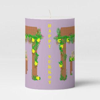 Happy Sukkot Pillar Candle