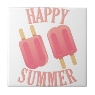 Happy Summer Ceramic Tile