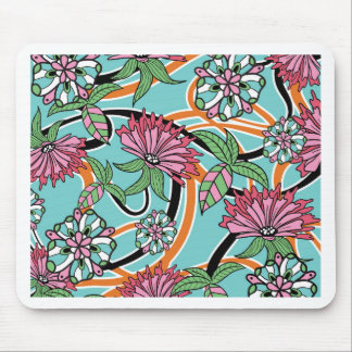 happy summer floral pattern mouse pad