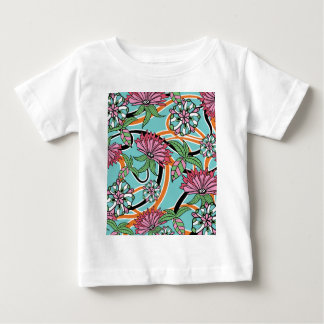 happy summer floral pattern t-shirts