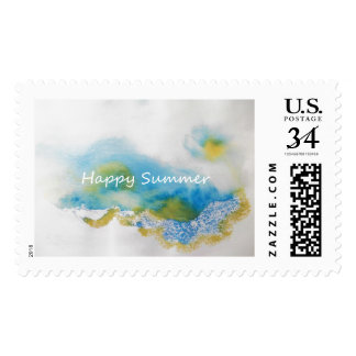 "Happy Summer. L, 2.5"" x 1.5"", $0.35 (Post Card) Postage"