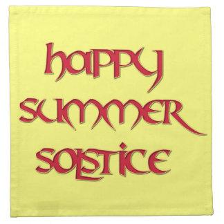 Happy Summer Solstice Cocktail Napkins (Cloth)