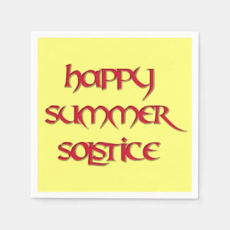 Happy Summer Solstice Cocktail Napkins (Standard)
