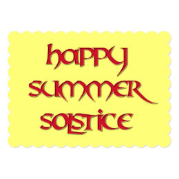 Happy Summer Solstice Invitation for Wiccan Events