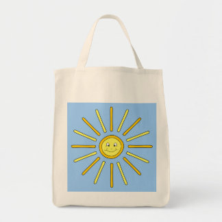 Happy Summer Sun. Yellow and Blue. Bags