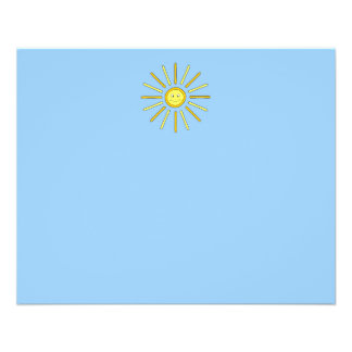 Happy Summer Sun. Yellow and Blue. Flyer