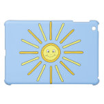 Happy Summer Sun. Yellow and Blue. Cover For The iPad Mini
