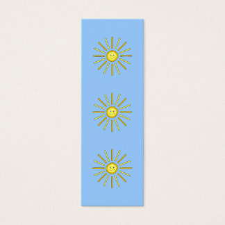 Happy Summer Sun. Yellow and Blue. Mini Business Card
