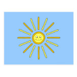 Happy Summer Sun. Yellow and Blue. Post Cards