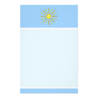 Happy Summer Sun. Yellow and Blue. Customized Stationery