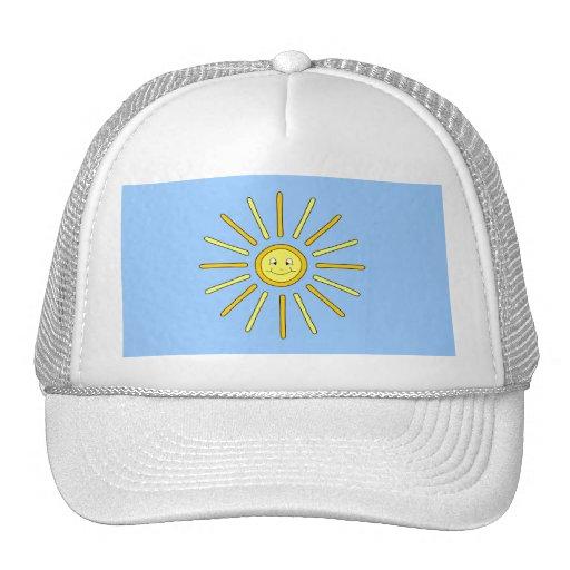 Happy Summer Sun. Yellow and Blue. Trucker Hat
