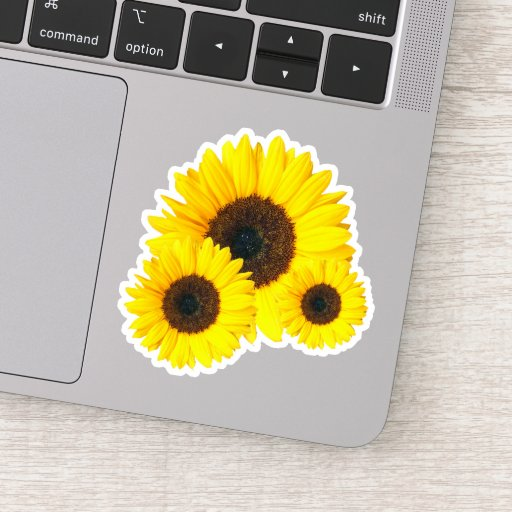 Happy Summer Sunflower Sticker