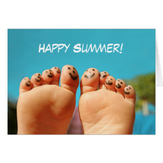 Happy Summer Toes Greeting Card