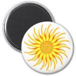 Happy Sun 2 Inch Round Magnet