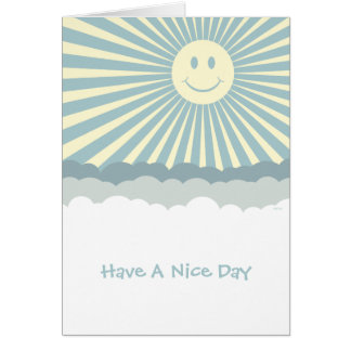 Happy Sun And Clouds Card