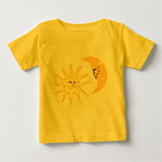 Happy Sun and Moon  Infant Yellow T-shirt