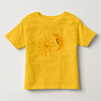 Happy Sun and Moon Toddler Yellow T-shirt